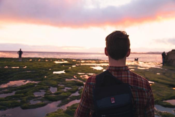 light-sunset-man-beach-large